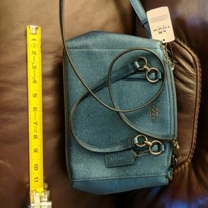 Brand New dark teal Coach purse